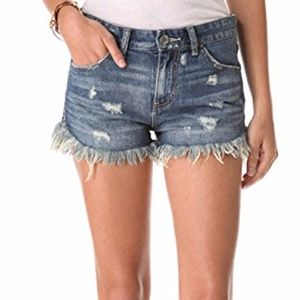 Free People Dolphin Vintage Cut Off Shorts