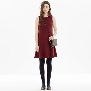 MADEWELL  Foyer felted wool shift dress sleeveless