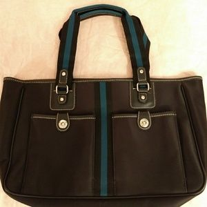 Nine West Tote, Large, Barely Used, Black,
