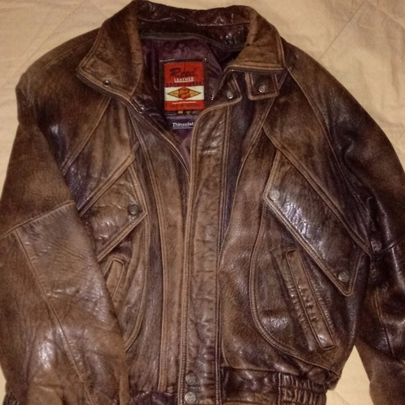 Austin Reed Jackets Coats Dark Brown Reed Mans Leather Jacket Nicely Weathed Poshmark