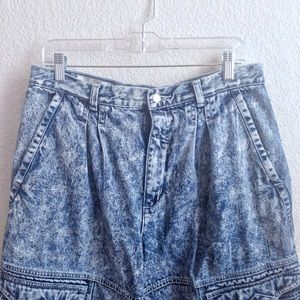 VTG🌟Rad 80s High Waist Acid Wash Cargo Mom Jeans!