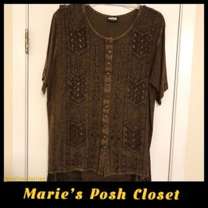 Bohemian Style Brown Skirt Set