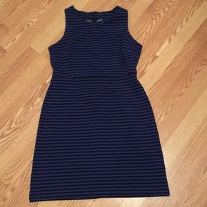 Black and blue stripped sheath dress!