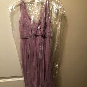 David's Bridal lilac bridesmaid dress. NWT. Size 2