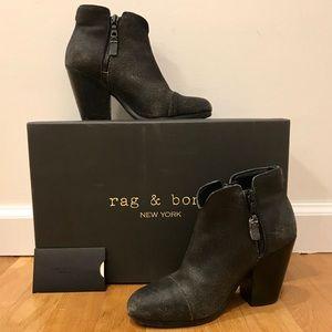 "RAG & BONE ""Margot"" Booties, Black Distressed"