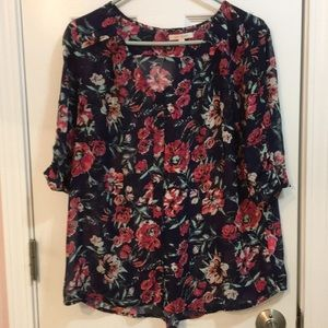 Sheer floral blouse great condition rarely worn