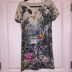Tropical print shift dress H&M! 🧡💛💚