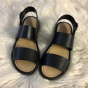 "Black ""BAMBOO"" Sandals"