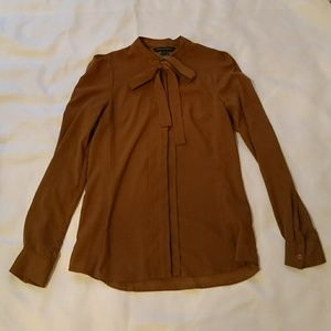 French Connection brown/gold blouse