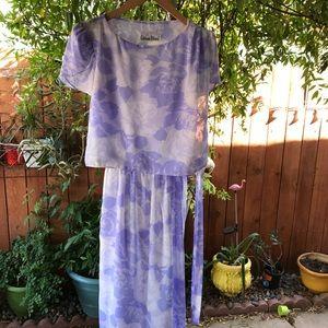 Vintage hipster lavender dress 80s size 7