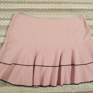 Heart&soul size 11 pink with Brown trim Mini skirt