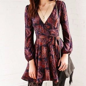 Ecote at Urban Outfitters Ruby Mini Wrap Dress