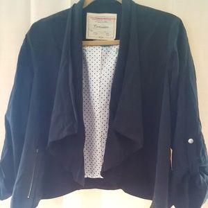 NWOT Anthropologie Black Jacket by Cartonnier