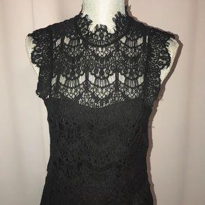 Free people backless crochet mini dress