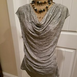 NWT Calvin Klein cap sleeve gathered on one side.