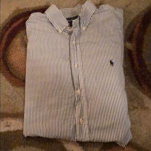 Striped Ralph Lauren Polo Button Down 👕 🐎