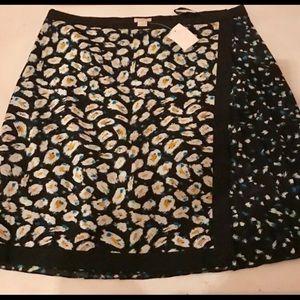 J. Crew faux wrap skirt