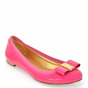 Kate Spade Tock Patent Leather Ballerina Bow Flats