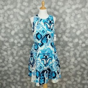 Donna Morgan Silky Ikat Dress