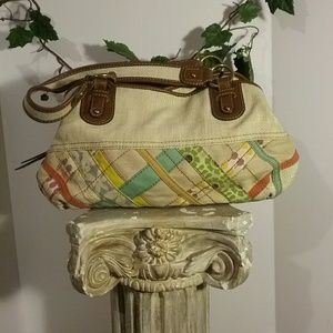 Large Fossil Sachel Tote