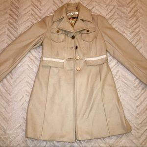 Kenneth Cole cream peacoat