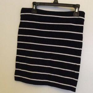 Bodycon striped mini skirt