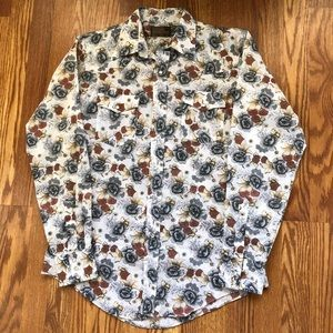 Vtg JCPenny pearl snap western shirt 60s/70s