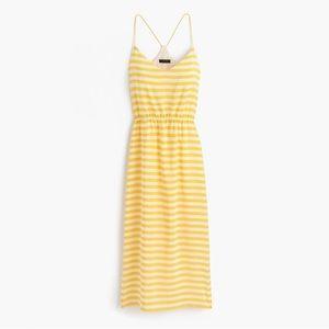 NWT J. Crew Striped Silk Carrie Dress Sz 2