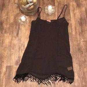 JUST IN🔥 FREE PEOPLE BLACK TASSELS FRINGE DRESS