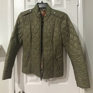 Authentic Olive Green BURBERRY Quilted Jacket