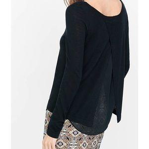 Express Crepe Lined Split Back Sweater