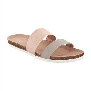 Textured Slip-On Cork Sandals for Women