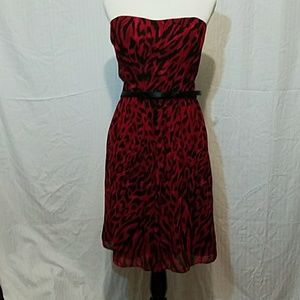 NWT WHBM Red Strapless Dress