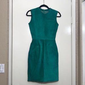 Green/Teal Leather Cigarette Dress