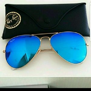 Ray ban aviator mirror blue Rb3025