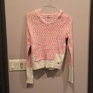 Roxy hoodie sweater S pink white