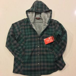 NWT Wolverine Bonded Sherpa Lined Shirt Jacket