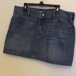 Old navy blue denim mini skirt