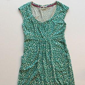 Boden Green Print Dress