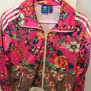 Adidas originals floral track jacket