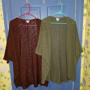 Two Long Knit Cardigans