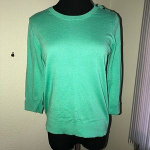 Ann Taylor Blouse With Shoulder Buttons