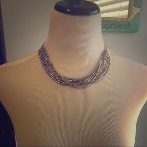 Gold bead layer necklace
