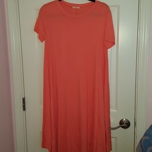 e.Luna Coral T Shirt Dress