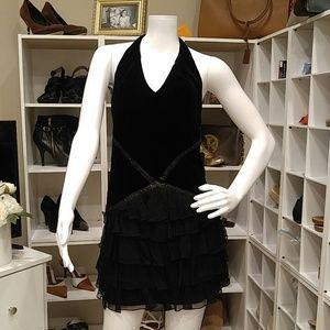 CATHERINE MALANDRINO LTD ED. BLK MINI DRESS 40/8