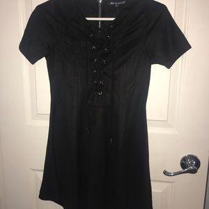 Missbehave Girls Black Dress