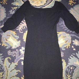 Bar III black sweater dress