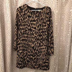 EUC loft Leopard print shift Dress