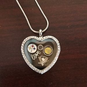 Pittsburgh Penguins Steelers Pirates Charm Locket