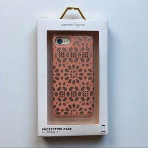 Nanette Lepore iPhone 7 Pink Flower Cutout Case